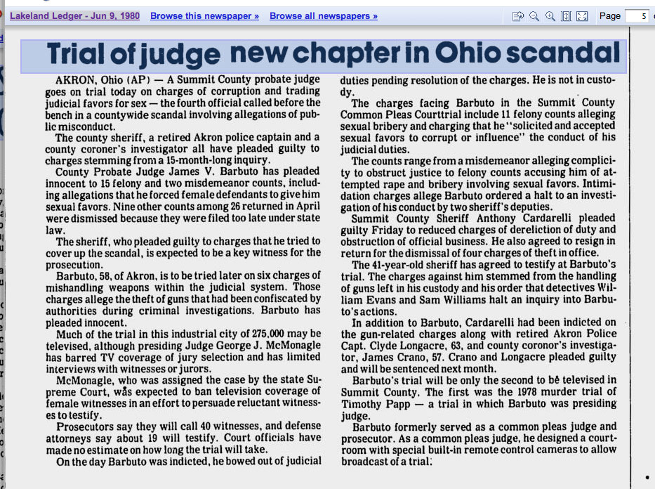 trial of judge ohio